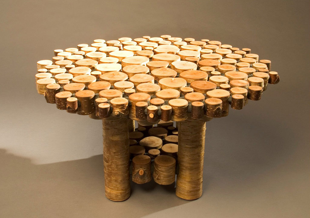 Innovative And Cool Looking Coffee Table The Log Builders