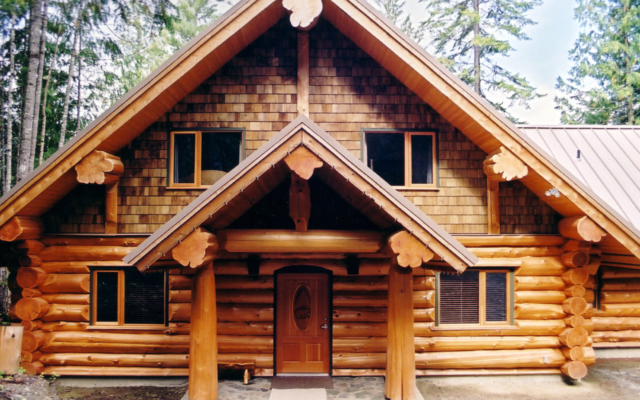 Traditional Canadian Full Scribe Log Home The Log Builders