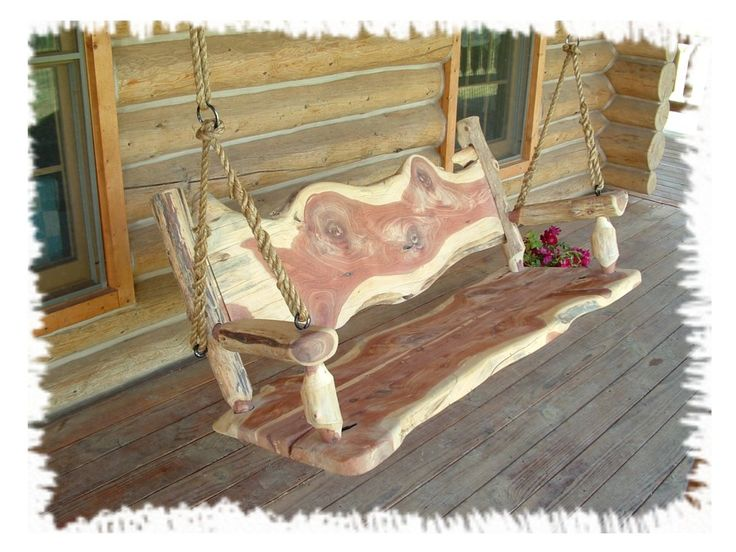 Romantic log swing the log builders for Log swing plans