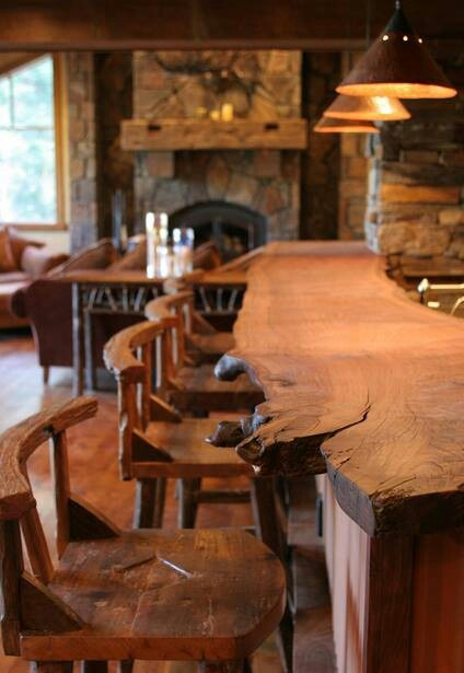 rustic bar top the log builders