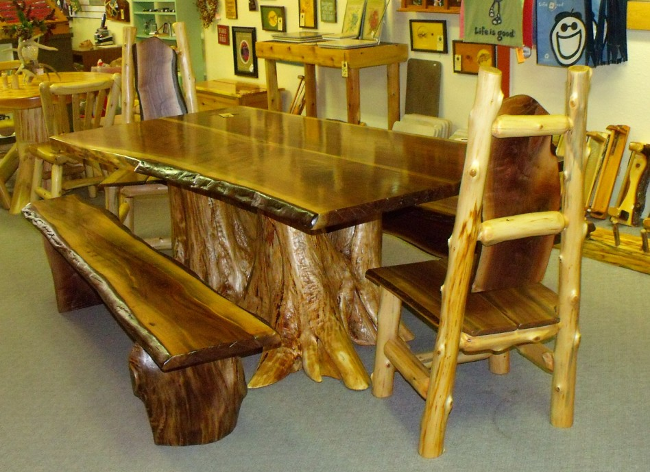 Artistic Rustic Dining Room Set The Log Builders