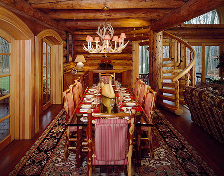 Magnificent Log Home Room « The Log Builders