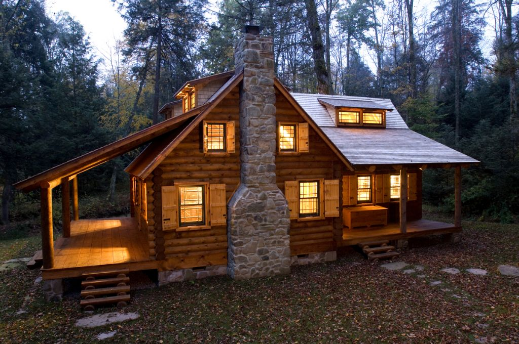 Fall is here the log builders for Square log cabin plans