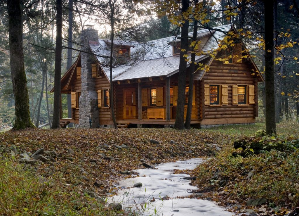 Woods log cabin homes for Chalet log homes