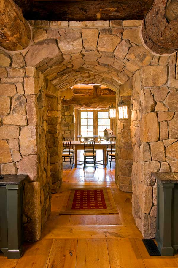 beautiful stone hallway the log builders. Black Bedroom Furniture Sets. Home Design Ideas