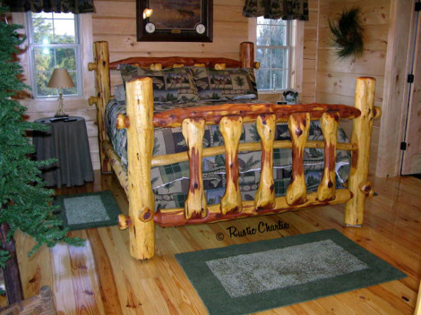 Cedar Bed Frame « The Log Builders