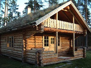 Old-style-log-cabin-house-design