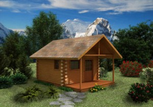 small-log-cabin
