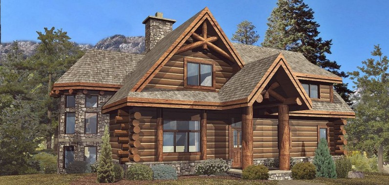 Gorgeous Blueprints For 2500 Sqft Log Home The Log Builders