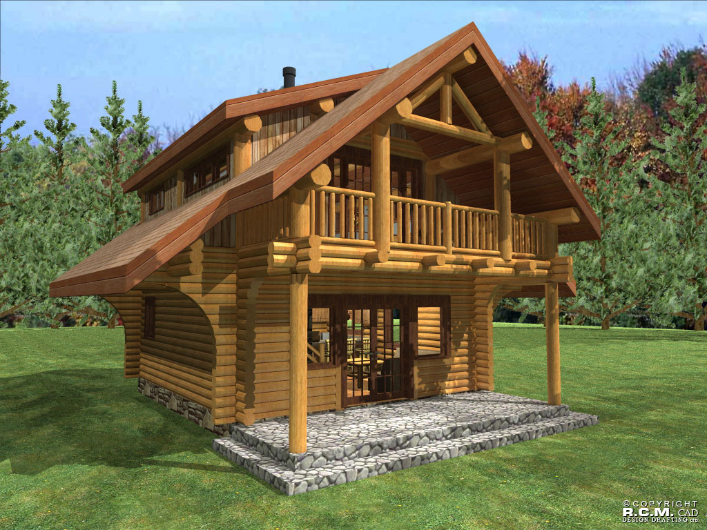 Small homes with lofts floor plans joy studio design for Log home blueprints