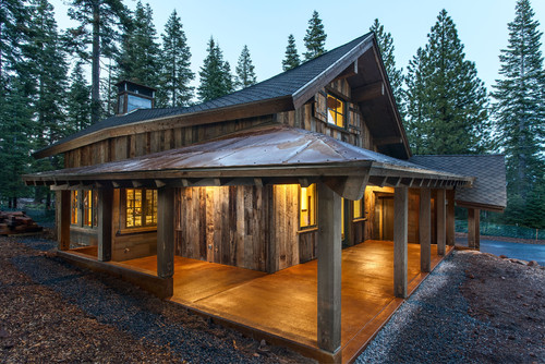 Innovative Compact Rustic Log Cabin Design The Builders