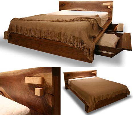 wood-rustic-log-bed-design