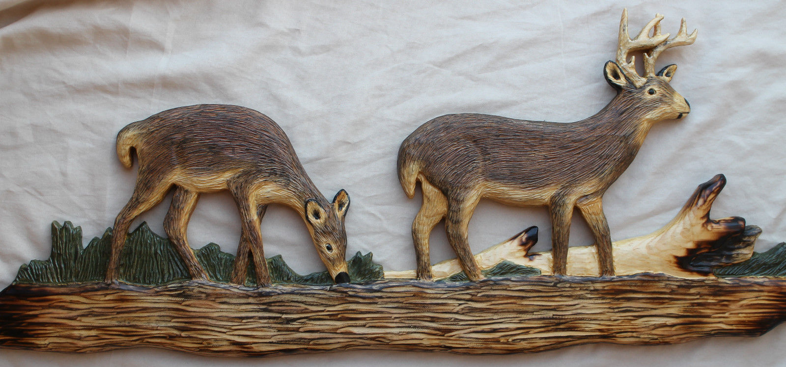 Cabin Wall Art log cabin decor hand carved wall art carvings of bear, raccoon